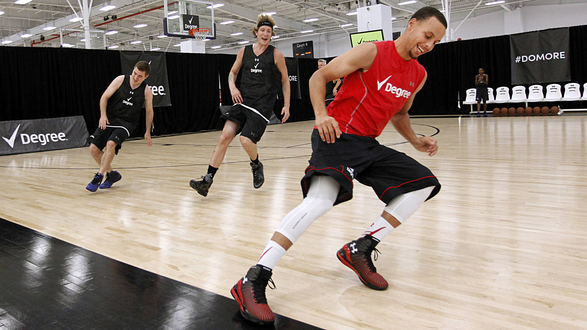 Steph Curry during fitness training